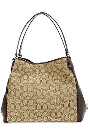 COACH Signature Edie 31 Shoulder Bag F36466 LI/Khaki/Brown