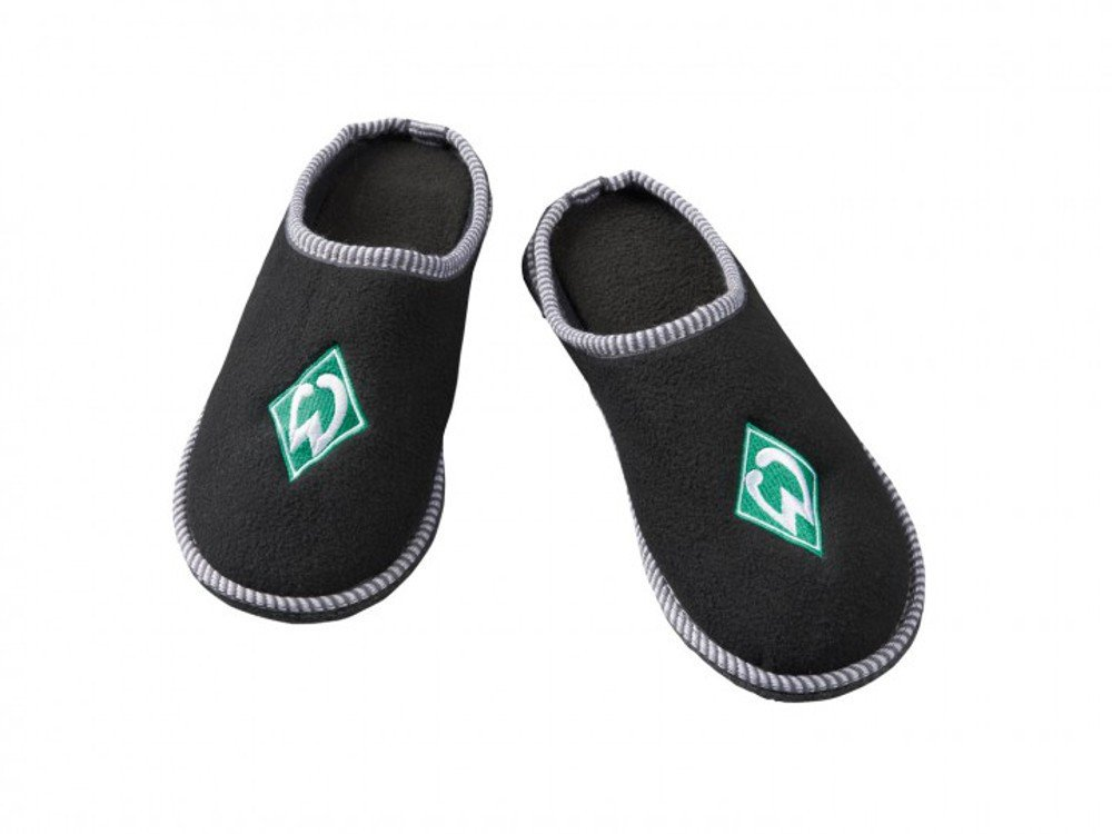 SV Werder Bremen Mule Slippers Cute Slippers with Embroidered Club Crest Black