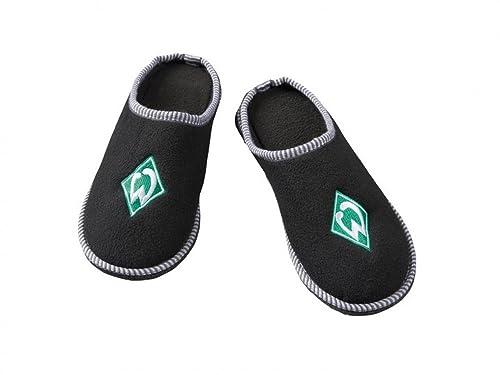 Pantuflas de SV Werder Bremen, pantuflas, pantuflas de fieltro con emblema del club estampado, negro: Amazon.es: Zapatos y complementos
