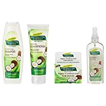 Palmer's Coconut Oil Formula Strong Roots Spray 150ml, Palmer's Coconut Oil Formula Repairing Conditioner 250ml, Palmer's Coconut Oil Formula Shampoo 400ml and Palmer's Coconut Oil Formula Super Control for Edges Gel 64g pack by Palmers