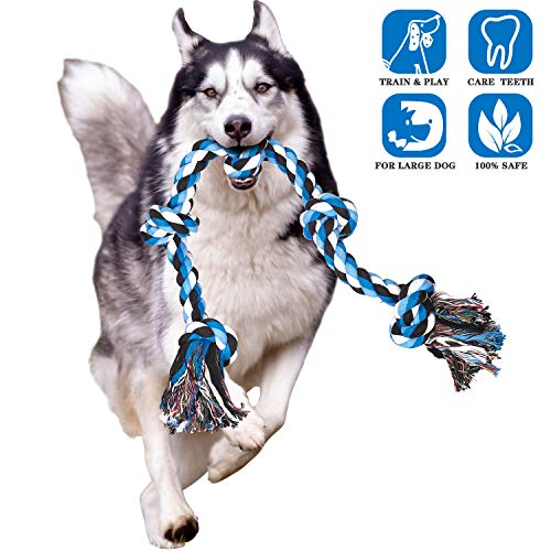 CHLEBEM Dog Toys for Aggressive Chewers Dog Rope Toy for Large Dogs Interactive Chew Teeth Cleaning Treats Boredom Tough…
