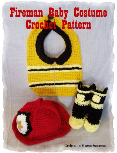 [Fireman Baby Costume Crochet Pattern] (First Responders Costumes)