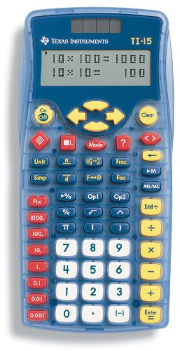 Math Explorer - Texas Instruments TI-15 Explorer Elementary Calculator