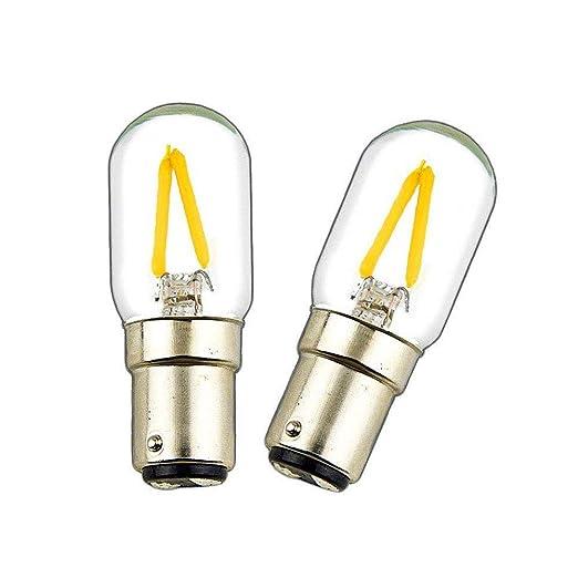Ba15d - Bombilla LED (2 W, doble contacto, tipo T22, CA 200