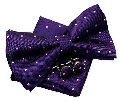 Retreez Retro Square Dots Woven Pre-tied Bow Tie (5