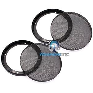 "6.5"" Universal Steel Mesh Protective Speaker Grills-Pair"