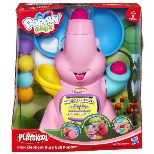 Amazon.c: Playskool Pink Elephant Busy Ball Popper: Toys & Games