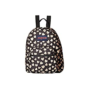 JanSport Unisex Half Pint Glitter Hearts Backpack