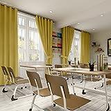 cololeaf School Classroom Decor Curtain Drapes Panel for Kids Girls Boys Livingroom Playroom Library - Anti-Bronze Grommet - Yellow 52W x 108L Inch (1 Panel)