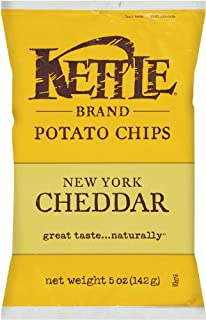 product image for Kettle Brand Potato Chips, New York Cheddar, 5-Ounce Bags (Pack of 15)