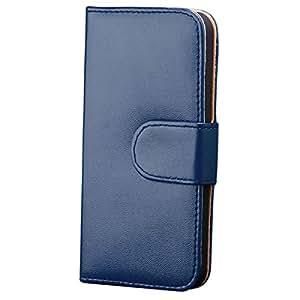 iCues FX72 - Funda tipo cartera para Apple iPhone 5 con protector de pantalla, color azul
