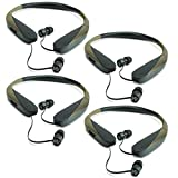 Walker Razor X Retractable Hunting Digital Noise Reduce Ear Bud Headset (4 Pack)