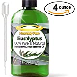 Heavenly Pure Eucalyptus Essential Oil  with Dropper - 4 OZ