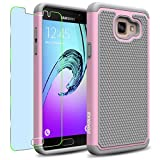Samsung Galaxy A5 (2016) / A510F Case, INNOVAA Smart Grid Defender Armor Case (Not Compatible with Samsung Galaxy A5 (2015)) W/ Free Screen Protector & Touch Screen Stylus Pen - Grey/Light Pink