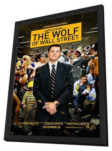 The Wolf of Wall Street (2013) 27 x 40 Movie Poster - Style B - in Deluxe Wood Frame by MG Posters