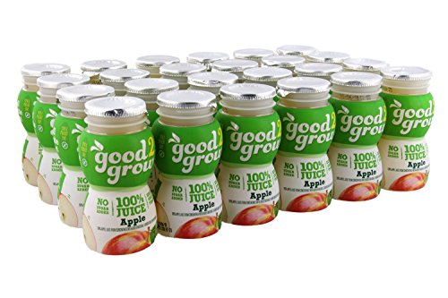 Organic Top Bottle (good2grow Apple Juice 6oz Refill Drink Bottles Pack, 24 Count - No Sugar Added, 100% Juice, An Excellent Source of Vitamin C - Use with Collectible Spill-Proof Topper Characters)