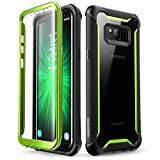 i-Blason Ares Designed for Galaxy S8 Case, Full-body Rugged Clear Bumper Case With Built-in Screen Protector for Samsung Galaxy S8 2017 Release (Green)