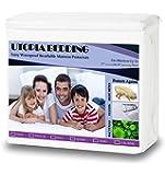 Twin Size Utopia Bedding Premium Hypoallergenic Waterproof Mattress Protector Mattress Cover - Vinyl Free
