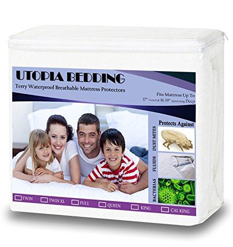 Twin Hypoallergenic Waterproof Mattress Protector - by Utopia Bedding