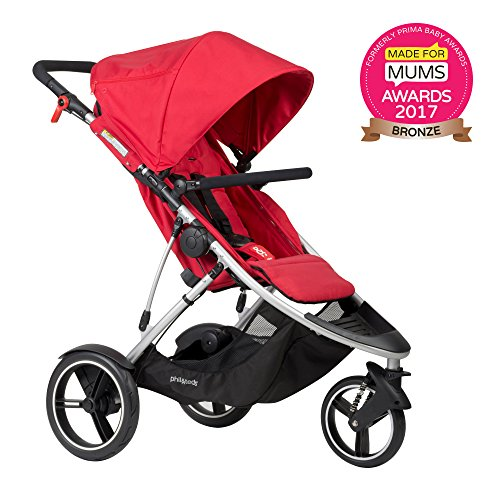 Reversible Single Stroller Liner - phil&teds Dash Inline Stroller, Red