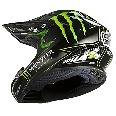 Amazon.es: HJC - 14240506/162 : HJC - 14240506/162 : Casco Enduro Offroad Motocross RPHA X Nate Adams Monster MC5 Color Monster-5 Talla XS
