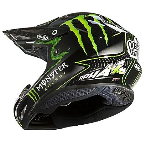 Amazon.es: HJC - 14240506/162 : HJC - 14240506/162 : Casco Enduro Offroad Motocross RPHA X Nate Adams Monster MC5 Color Monster-5 Talla XS