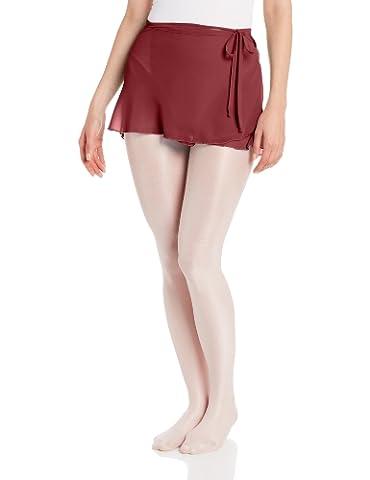 Capezio Women's Chiffon Wrap Skirt, Burgundy, Medium/Large - Capezio Wrap Skirt
