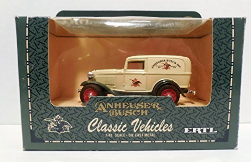1932 Ford Panel - Ertl Classic Vehicles Anheuser Busch 1932 Ford Panel Truck in 1:43 Scale Diecast Metal