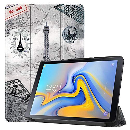 Galaxy Tab Advanced 2 SM-T583 Case,APOLL Ultra Slim Lightweight Trifold Stand Protective Shell Cover for Samsung Galaxy Tab Advanced 2 (SM-T583) 10.1 inch Tablet 2019 Released,Retro Tower