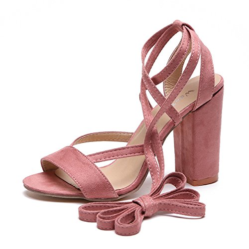 heel foot Pink five Rome High heel high Thirty sandals ring bandage and 4UnpdBq