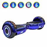 "NHT 6.5"" Hoverboard Electric Self Balancing Scooter Sidelights - UL2272 Certified Chrome Color (Chrome Blue)"