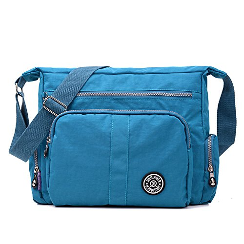 For Bookbag Women Casual Travel Waterproof Blue 2 Fashion Lightweight Shoulder Satchel Body Sport College Mecooler Side Cross Messenger Bag 7qZdvSvpw