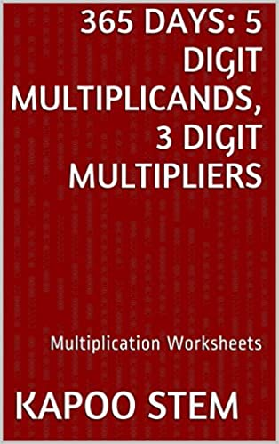 365 Multiplication Worksheets with 5-Digit Multiplicands,