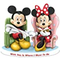 Disney With You Is Where I Want To Be: Mickey Mouse And Minnie Mouse Collectible Figurine by The Hamilton Collection