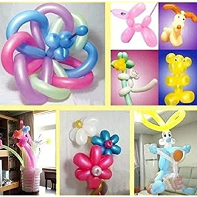 Aerfas 260q Balloons,100 Pack Thickening Latex Twisting Modelling Long Magic Balloons for Animal Model,Weddings, Birthdays, Party Decorations (White): Toys & Games