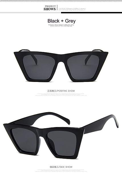 Amazon.com: 2018 Fashion Flat Top Cat Eye Sunglasses Women ...