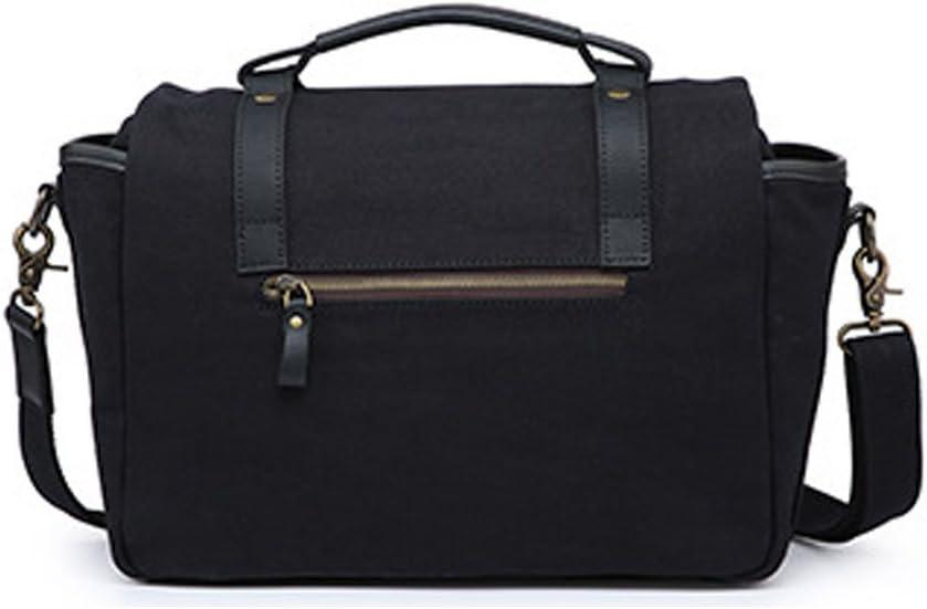 Color : Yellow Amyannie Laptop Messenger Bag Camera Messenger Bag Men Business Briefcase Vintage Shoulder Tote Crossbody Handbag for DSLR Camera