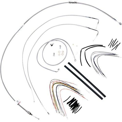 バーリーブランド Burly Brand ケーブル キット ステンレス 07年-10年 FXSTB、FXSTC 14インチ エイプバー用 773114 B30-1052 B01N3Y9N2C