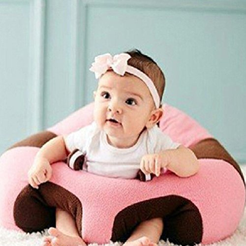Babybooper Learning to Sit Support Seat Sofa Plush Toys Supply Baby Chair, Pink/Brown, One Size ()