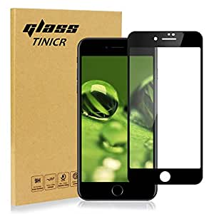Full Coverage Screen Protector Tempered Glass for iPhone 8 7 6s 6, TINICR 4D Curved Soft Edge Anti-Scratch Bubble Free Screen Cover Shield for Apple iPhone 8 7 6s 6 (4.7'')
