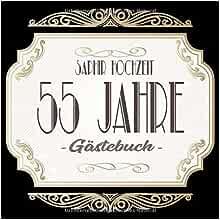 Amazon.com: Saphirhochzeit Gästebuch 55 Jahre: Saphir