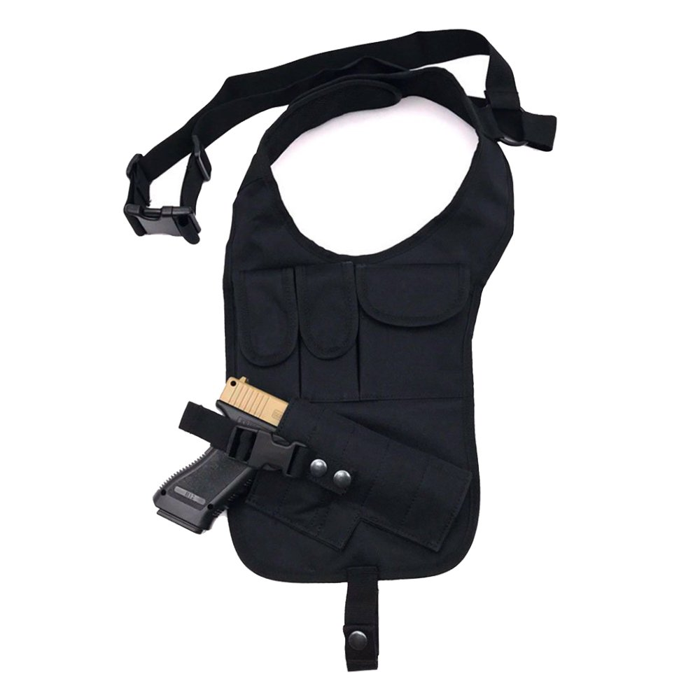 TEKCAM Tactical Underarm Shoulder Gun Holster Adjustable Concealed Armpit Pistol Holster with 5 Pouches for Outdoor Activities
