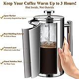 BAYKA 34 Oz French Press Coffee Maker, 304 Grade