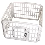 Favorite Outdoor Indoor 4-Panel Plastic Exercise Safe Pet Pen, White