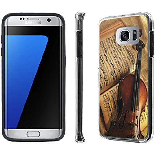 Galaxy S7 Edge / GS7 Edge Case, [NakedShield] [Black] DUO Shock Resistant Armor Case - [Violin and Note] for Samsung Sales