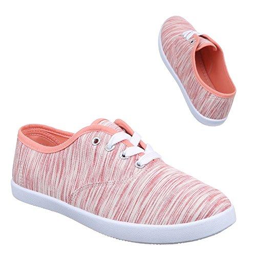 Ital-Design - zapatos de tiempo libre Mujer Naranja - Orange Rot