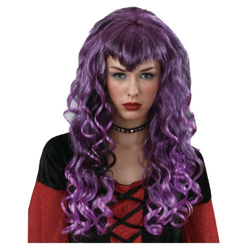 Ladies Luscious Vampiress Purple Wig Outfit Accessory for Fancy Dress Womens by Wicked Wicked -