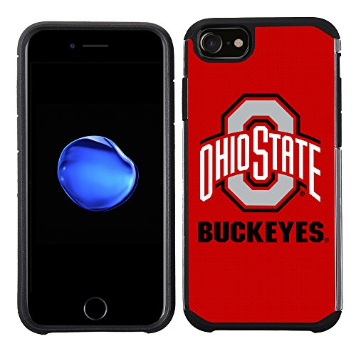 (Prime Brands Group Textured Team Color Cell Phone Case for Apple iPhone 8/7/6S/6 - NCAA Licensed Ohio State University Buckeyes)