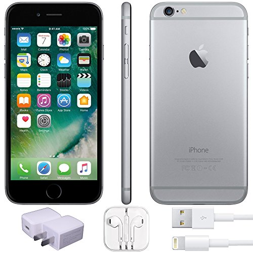 Apple iPhone 6 Factory Unlocked GSM 4G LTE Smartphone (Certified Refurbished) (Space Grey, 32GB)