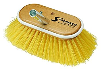 Shurhold 950 6-Inch Deck Brush with Extra Stiff White Polypropylene Bristles